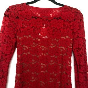 Red Lace Express Dress - Size Small